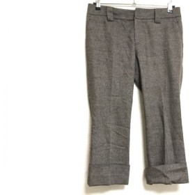 【中古】 アマカ AMACA パンツ サイズ40 M レディース ダークブラウン