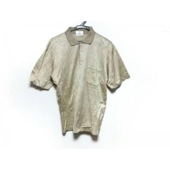 【中古】 ジバンシー GIVENCHY 半袖ポロシャツ サイズM メンズ 美品 ベージュ GENTLEMAN/花柄