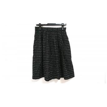 【中古】 マリメッコ marimekko スカート サイズ36 S レディース 黒 アイボリー ドット柄