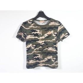 【中古】 カステルバジャックスポーツ 半袖Tシャツ サイズ1 S レディース ベージュ カーキ マルチ