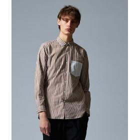 【オンワード】 JOSEPH HOMME(ジョゼフ オム) ストライプブロッキング シャツ ローズ 46 メンズ 【送料無料】