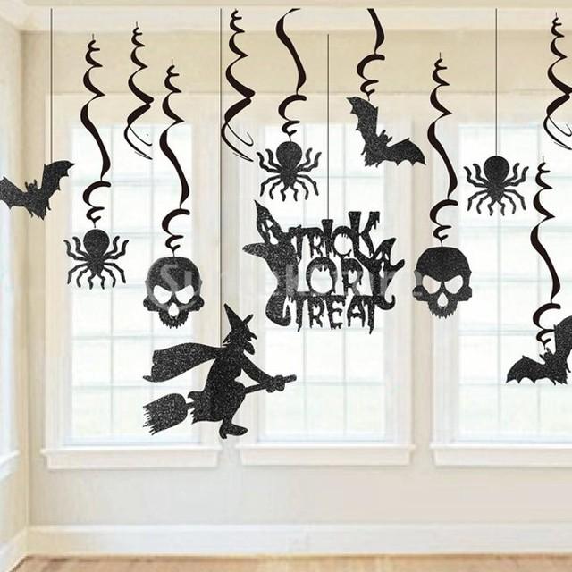 9枚 箔渦巻き 装飾 ハロウィーン パーティー ぶら下がり渦巻き 屋敷 天井 装飾