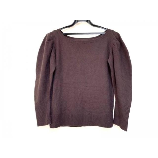 【中古】 グレースコンチネンタル GRACE CONTINENTAL 長袖セーター サイズ36 S レディース ダークブラウン