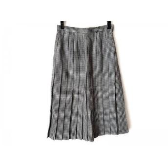 【中古】 ヨークランド YORKLAND スカート サイズ11 M レディース 黒 アイボリー プリーツ