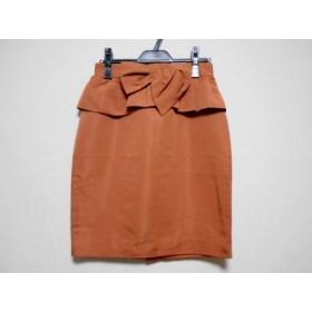 【中古】 ジャスグリッティー JUSGLITTY スカート サイズ2 M レディース ブラウン リボン