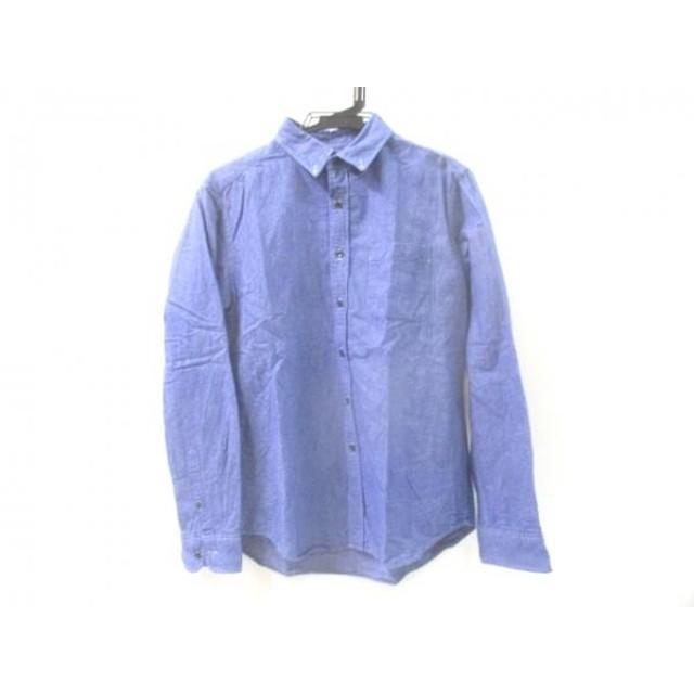 【中古】 ノーブランド 長袖シャツ サイズM メンズ ブルー