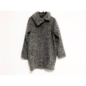 【中古】 ムルーア MURUA コート サイズ2(M) レディース 美品 グレー 黒 冬物