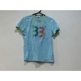 【中古】 ラコステ Lacoste 半袖Tシャツ サイズ42 L レディース ライトブルー イエロー マルチ