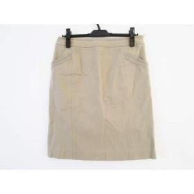 【中古】 ポールスミスブラック PaulSmith BLACK スカート サイズ42 L レディース ベージュ