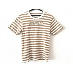 【中古】ピンクハウス PINK HOUSE 半袖Tシャツ サイズM レディース 美品 ブラウンxアイボリー ボーダー 新着 20190117