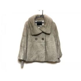 【中古】 アンタイトル UNTITLED ダウンジャケット サイズ2 M レディース グレージュ 冬物/袖リブ