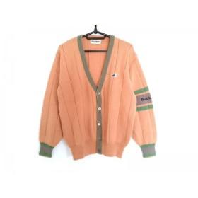 【中古】 ブラック&ホワイト ジャケット サイズM メンズ オレンジ グレー グリーン ニット/SPORTSWEAR