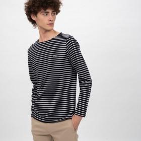 コットンピケボーダーTシャツ (長袖)