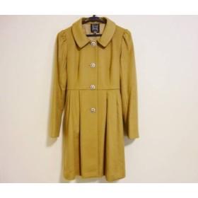 【中古】 シンシアローリー CYNTHIA ROWLEY コート サイズ2 S レディース 美品 ブラウン ビジュー/冬物
