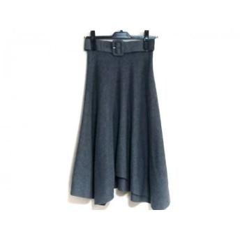 【中古】 マイストラーダ Mystrada スカート サイズ36 S レディース グレー ニット