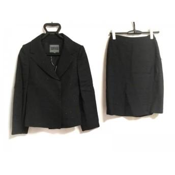 【中古】 ヴェルサーチジーンズ VERSACE JEANS COUTURE スカートスーツ レディース 黒