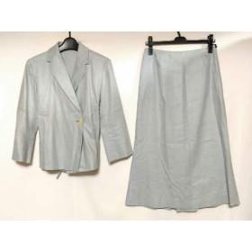 【中古】 エストネーション ESTNATION スカートスーツ サイズ38 M レディース ライトブルー アイボリー
