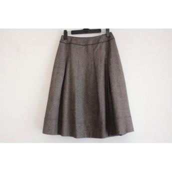 【中古】 ジユウク 自由区/jiyuku スカート サイズ36 S レディース ダークブラウン