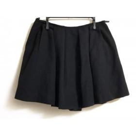 【中古】 ミュウミュウ miumiu ミニスカート サイズ38 S レディース 黒