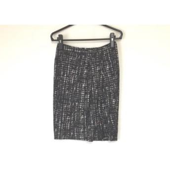 【中古】 ダブリュービー wb スカート サイズ38 M レディース 黒 グレー マルチ