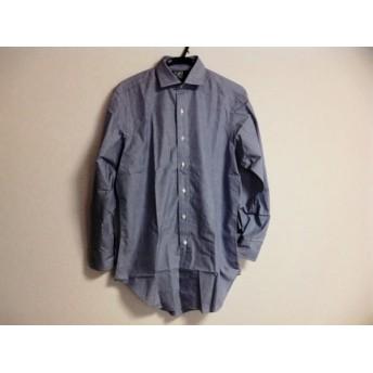 【中古】 ポロラルフローレン POLObyRalphLauren 長袖シャツ サイズ38 M メンズ ブルー