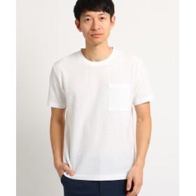 THE SHOP TK(Men)(ザ ショップ ティーケー(メンズ)) シアサッカーTシャツ