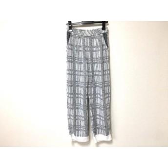 【中古】 コーヘン Coohem パンツ サイズ36 S レディース ライトグレー 黒 ニット