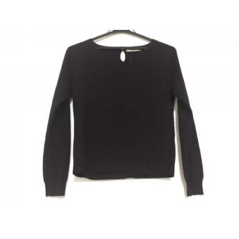 【中古】 アプワイザーリッシェ Apuweiser-riche 長袖セーター サイズ2 M レディース ダークブラウン