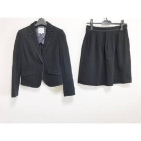 【中古】クミキョク 組曲 KUMIKYOKU スカートスーツ サイズ2 M レディース 美品 黒 新着 20190131