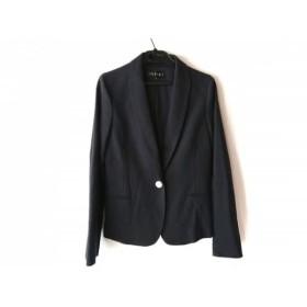 【中古】 インディビ INDIVI ジャケット サイズ38 M レディース 美品 ダークネイビー