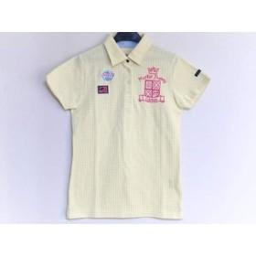 【中古】 マスターバニーエディション 半袖ポロシャツ サイズ1 S レディース 美品 イエロー 白 ピンク