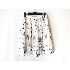 【中古】 ジャスグリッティー JUSGLITTY スカート サイズ2 M レディース 美品 白 グレー