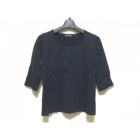 【中古】 マカフィ MACPHEE 七分袖セーター レディース 黒