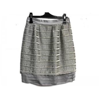 【中古】 ボディドレッシングデラックス スカート サイズ36 S レディース ベージュ ティアード/ボーダー