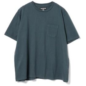 <MEN>MONITALY / ビッグシルエット ポケット付きTシャツ メンズ Tシャツ INDIGO XL