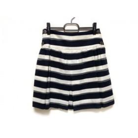 【中古】 アドーア ADORE ミニスカート サイズ36 S レディース 黒 白 グレー ボーダー