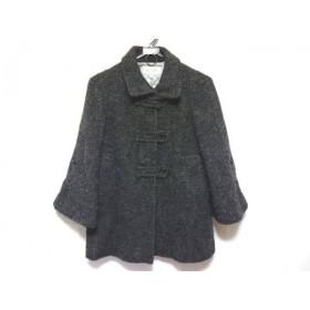【中古】 スキャパ Scapa コート サイズ38 L レディース ダークブラウン 黒 マルチ 冬物