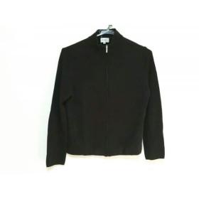 【中古】 ジユウク 自由区/jiyuku 長袖セーター サイズ38 M レディース 黒 ジップアップ