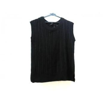 【中古】 ヘザー heather ノースリーブセーター サイズF レディース 黒