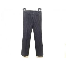 【中古】 インコテックス パンツ サイズ40 M レディース ダークグレー ライトグレー 太ストライプ