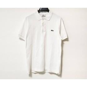 【中古】 ラコステ Lacoste 半袖ポロシャツ サイズ2 M メンズ 白