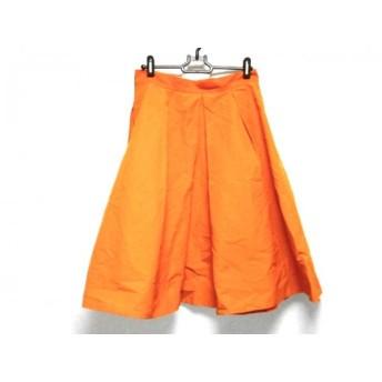 【中古】 ダイアグラム Diagram GRACE CONTINENTAL スカート サイズ38 M レディース 美品 オレンジ