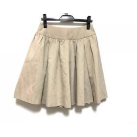 【中古】 ドゥロワー Drawer スカート サイズ38 M レディース ベージュ フレアスカート