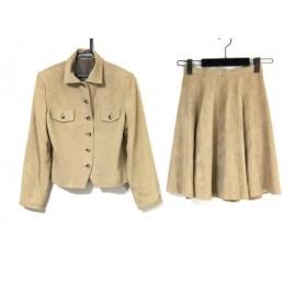 【中古】 ロイスクレヨン Lois CRAYON スカートスーツ サイズM レディース ベージュ