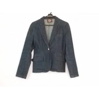 【中古】 ブラーミン BRAHMIN ジャケット サイズ40 M レディース ネイビー デニム
