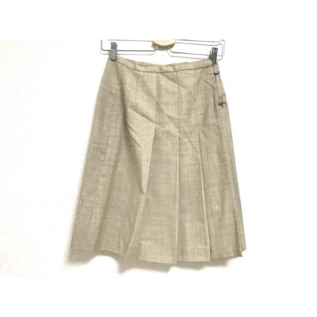 【中古】 ヨークランド YORKLAND スカート サイズ9AR S レディース 美品 ベージュ