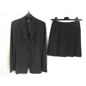 【中古】 ミッシェルクラン MICHELKLEIN スカートスーツ レディース ダークグレー 肩パッド/プリーツ