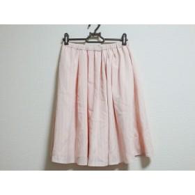 【中古】 リッチミーニューヨーク スカート サイズ36 S レディース 美品 ピンク グレー ストライプ
