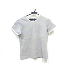 【中古】 ナイキ NIKE 半袖Tシャツ サイズL レディース グレー ホワイト