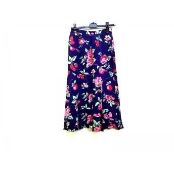 【中古】 ジェーンマープル Jane Marple ロングスカート サイズM レディース パープル ピンク マルチ